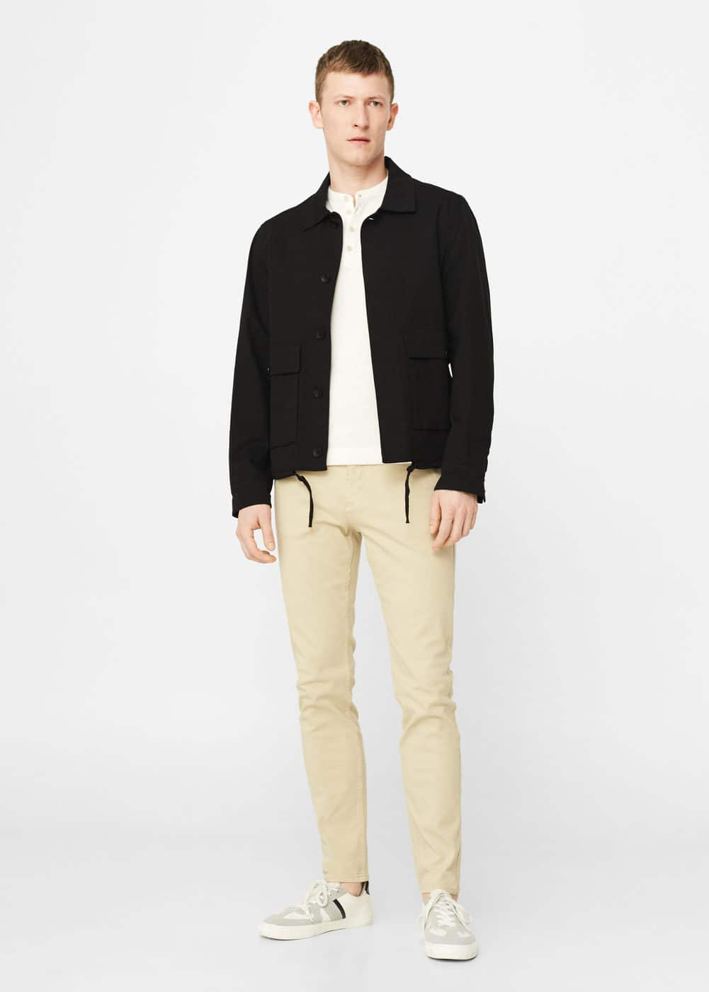 Slim-fit off-white patrick jeans | MANGO MAN