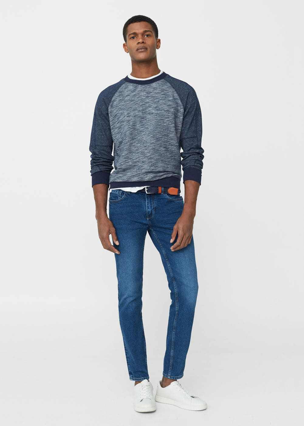 Skinny medium wash jude jeans | MANGO MAN