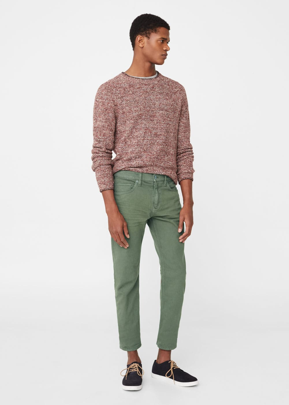 Slim-fit khaki alex jeans | MANGO MAN