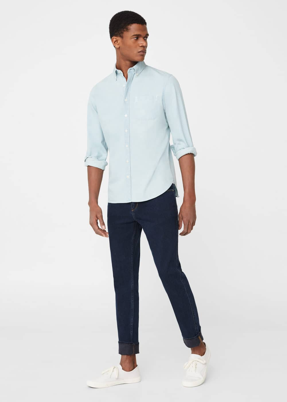 Slim-fit navy patrick jeans | MANGO