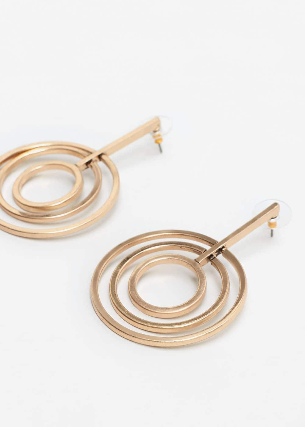 Intertwined hoop earrings | MNG