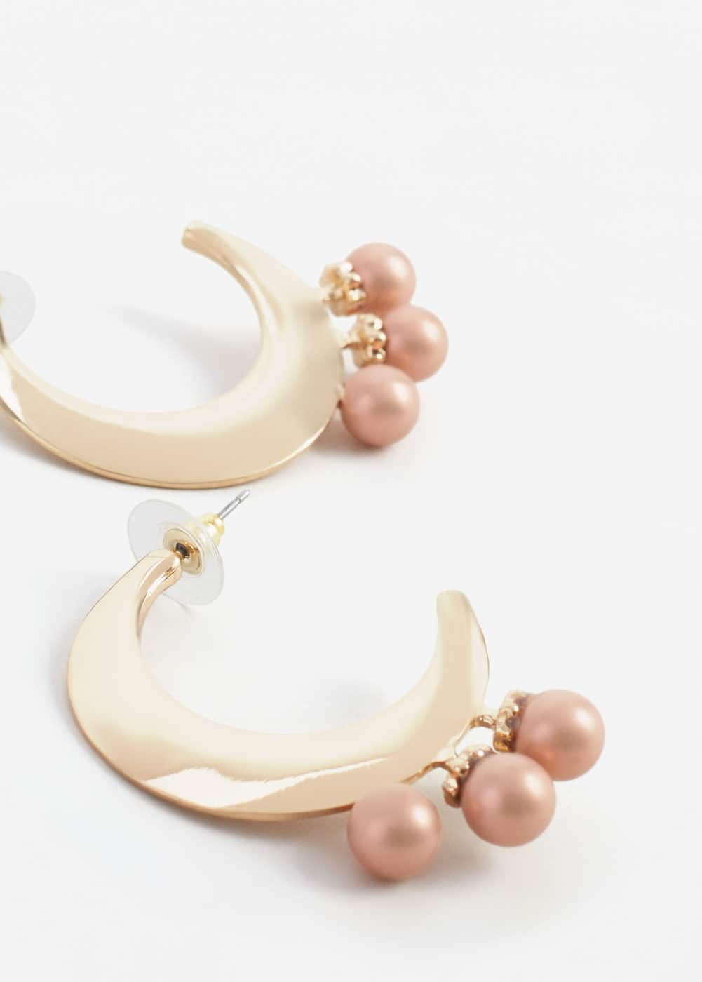 Bead loop earrings | MANGO