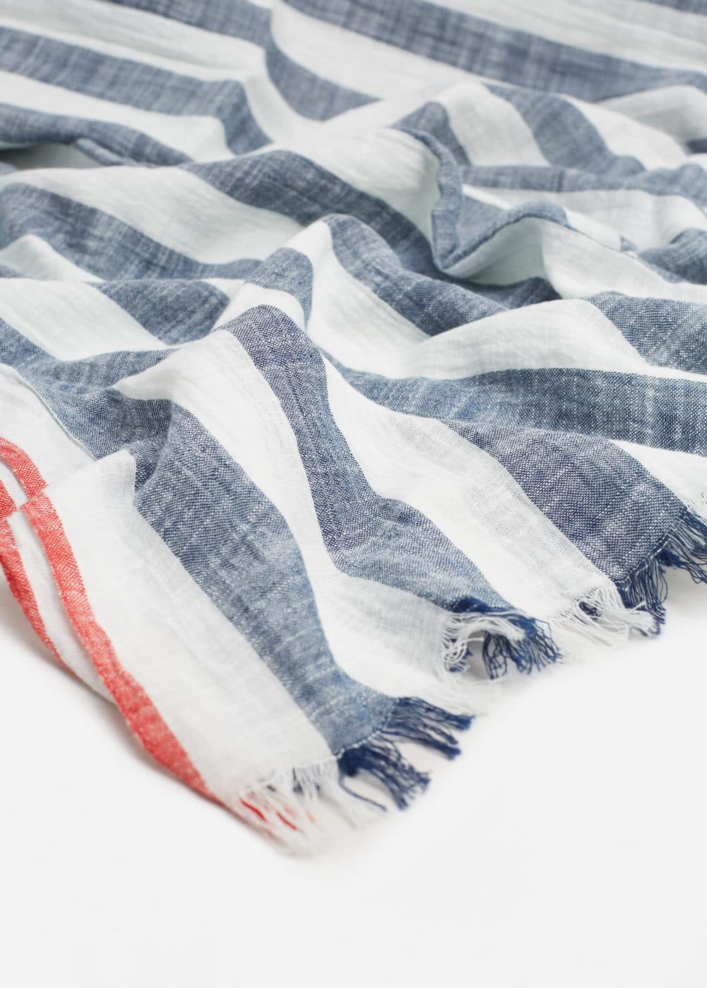 Stripe-pattern cotton scarf | MANGO MAN