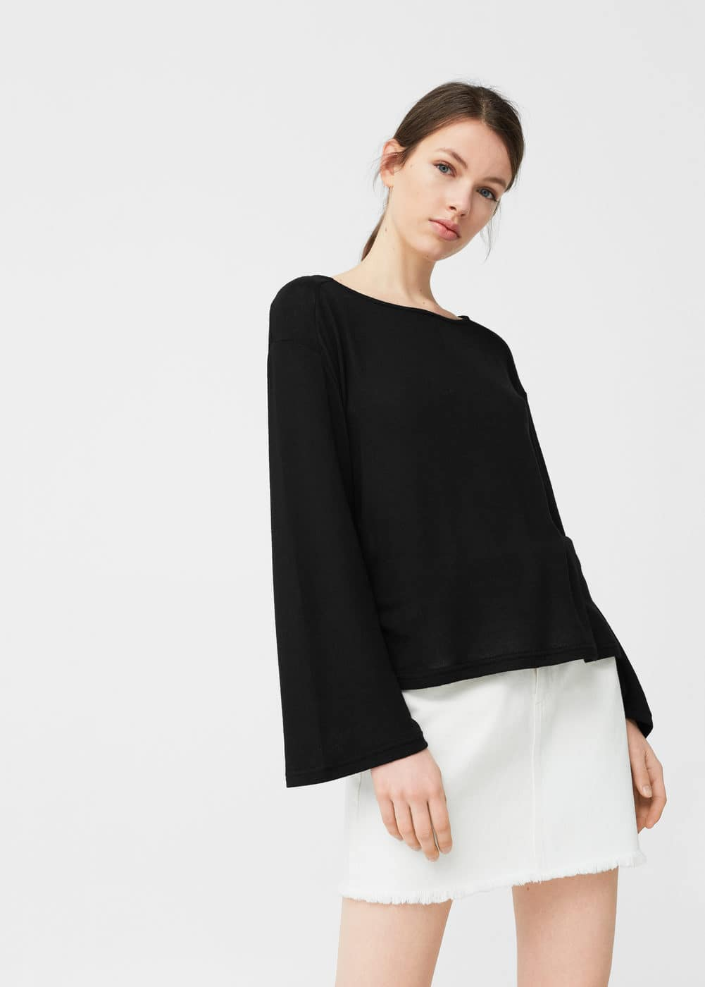 Guipure panel t-shirt | MANGO
