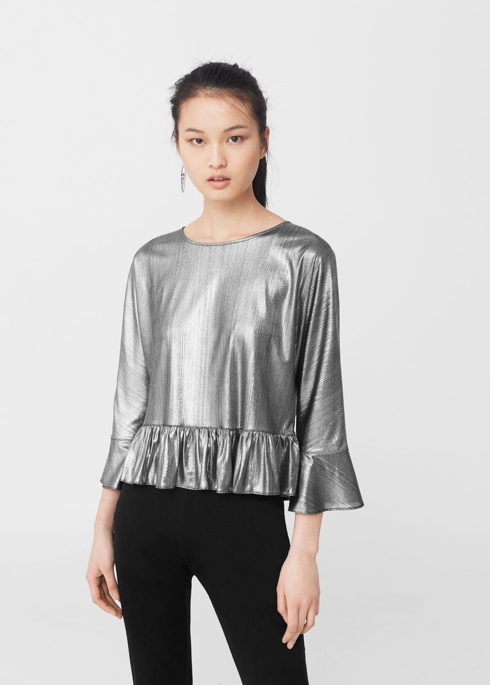 Metallic t-shirt | MANGO