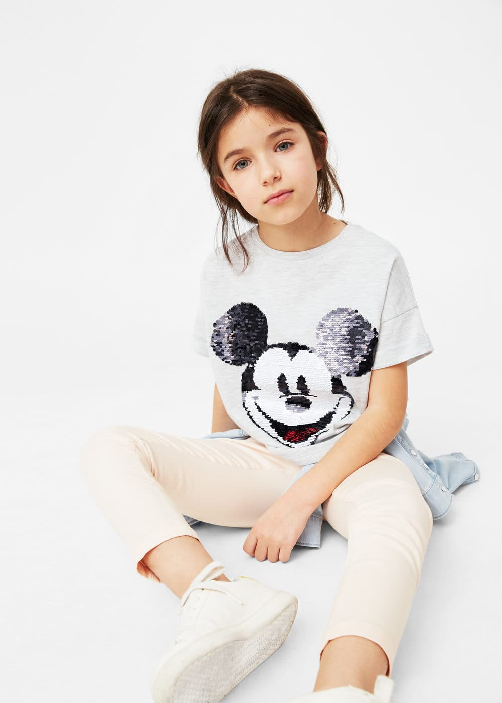 T-shirt mit magischer pailletten-applikation | MANGO KIDS