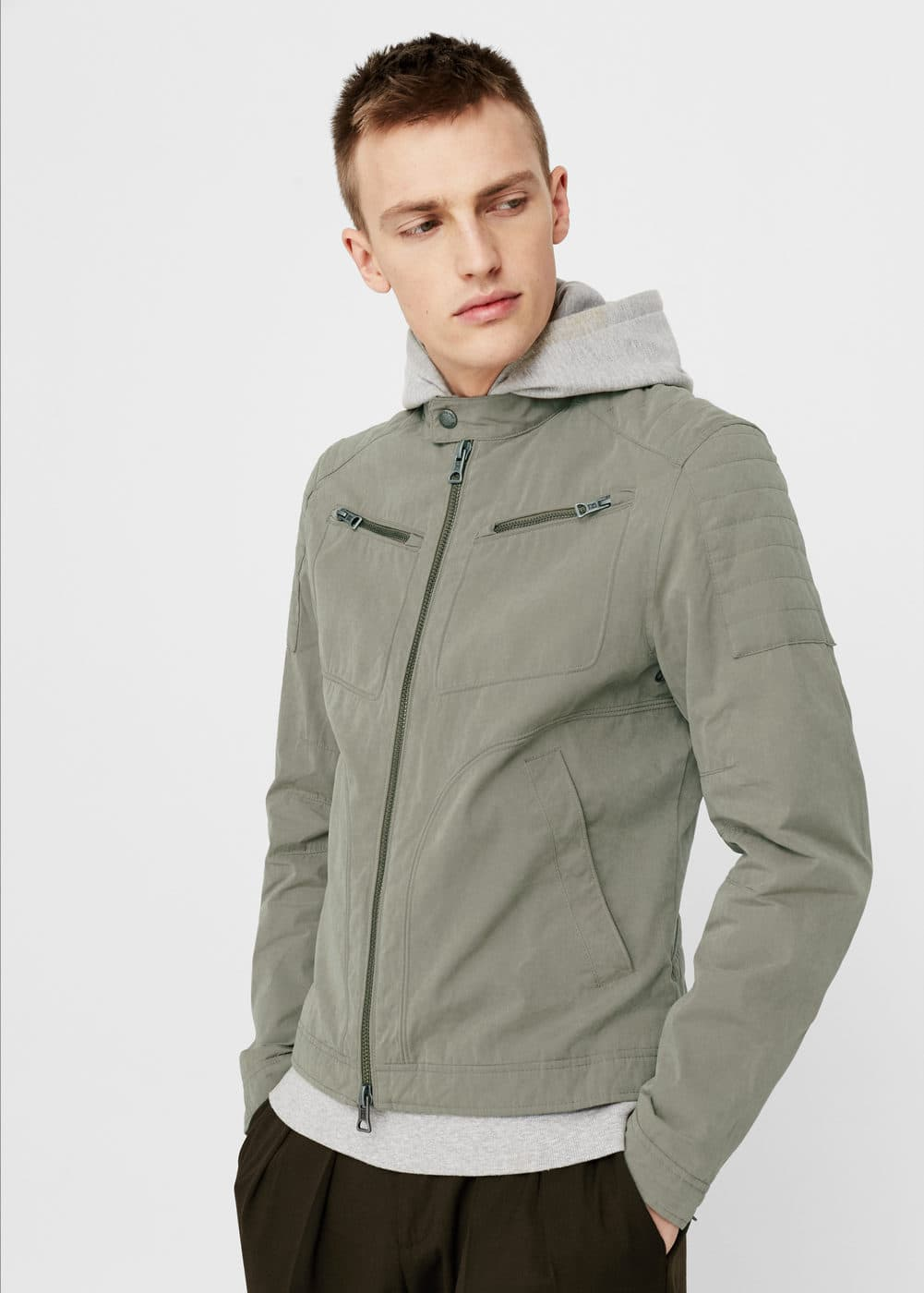 Cotton nylon-blend jacket | MANGO