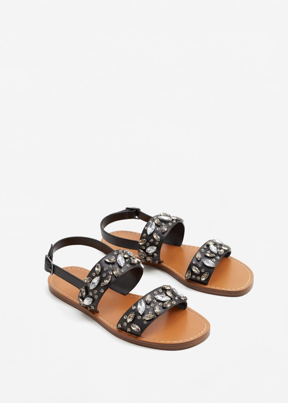 Crystal strap sandals | MANGO