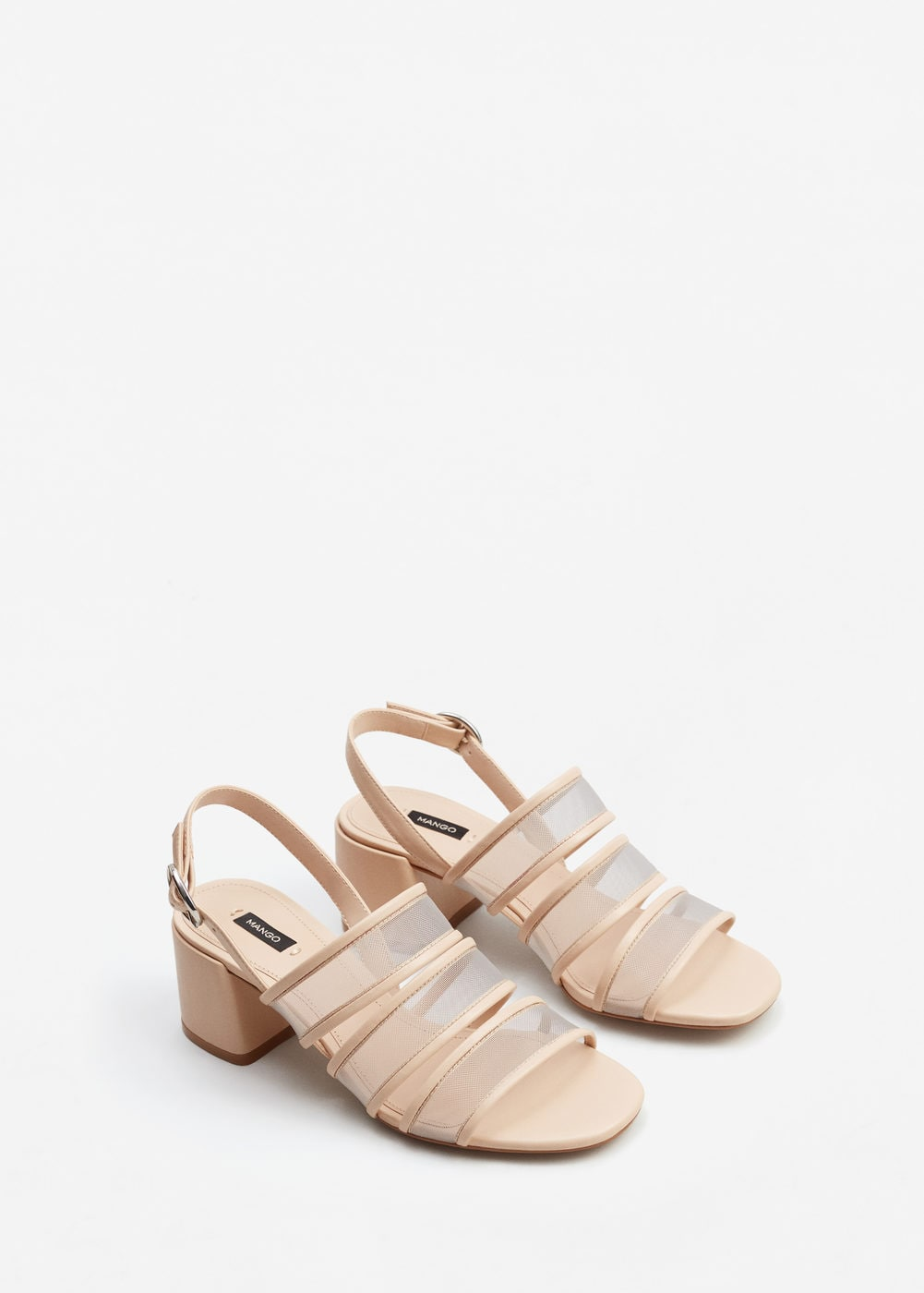 See-through straps sandals | MANGO