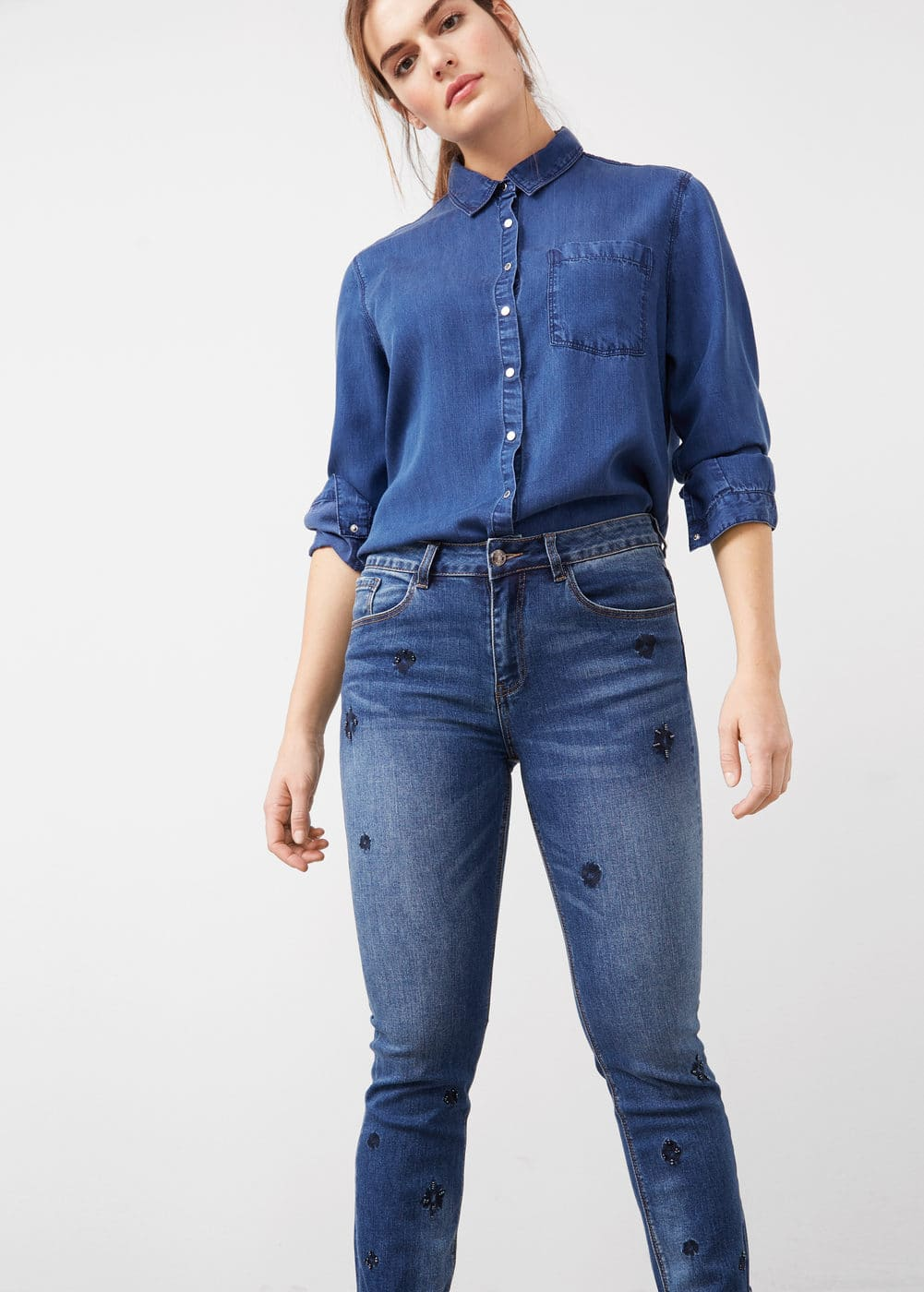 Beads slim-fit jeans | MNG