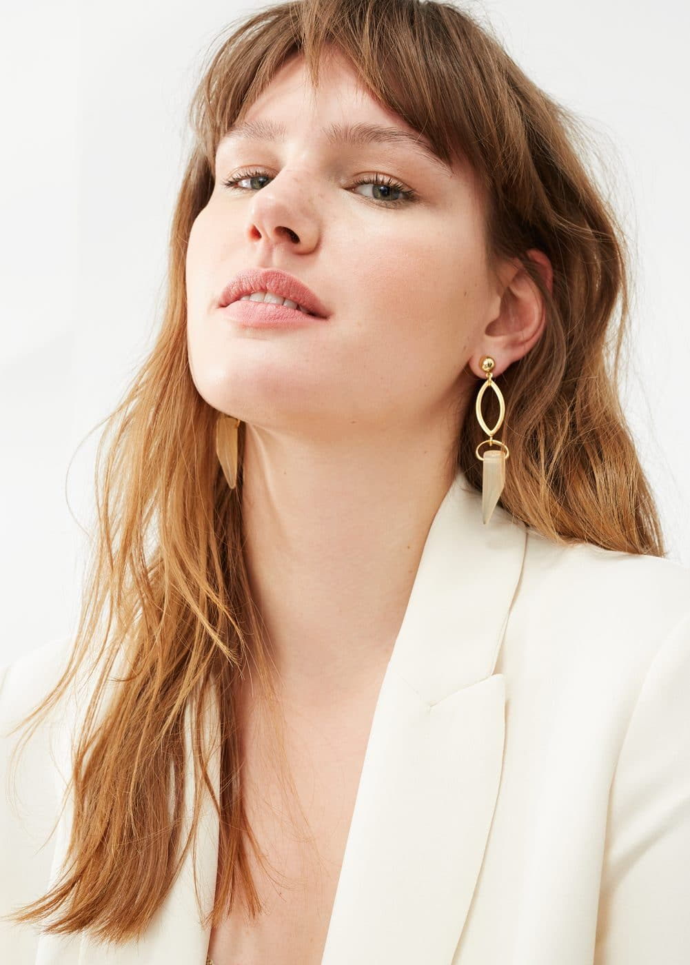 Horn earrings | MANGO