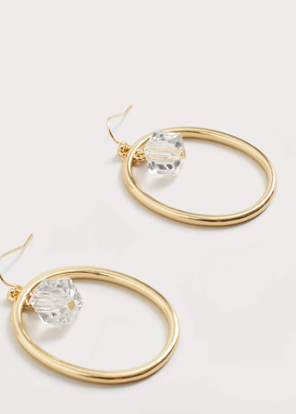 Bead hoop earrings | VIOLETA BY MANGO