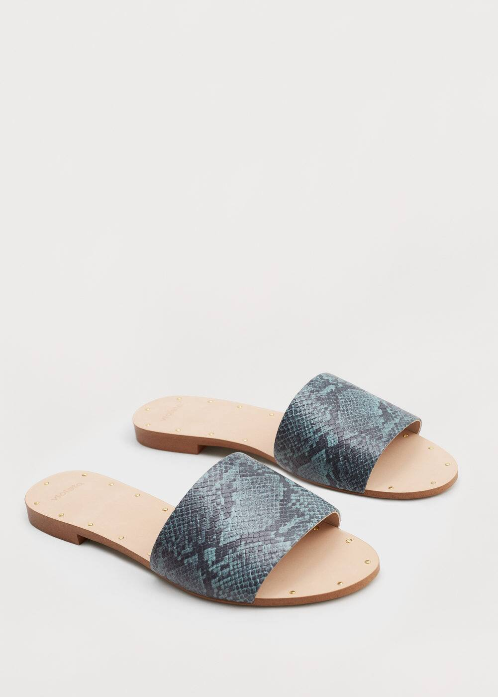 Snake-effect sandals | VIOLETA BY MANGO