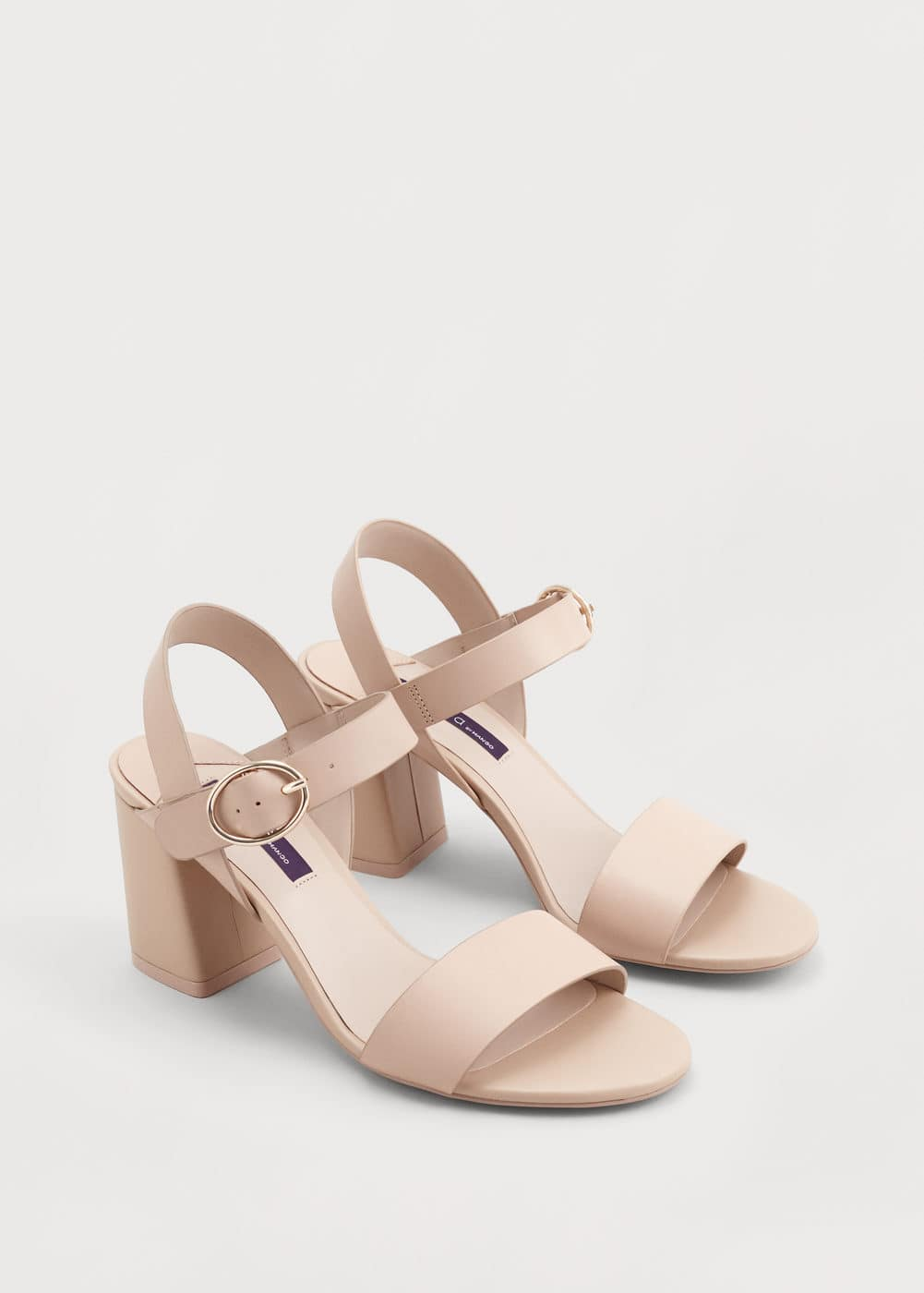 Heel leather sandals | MANGO