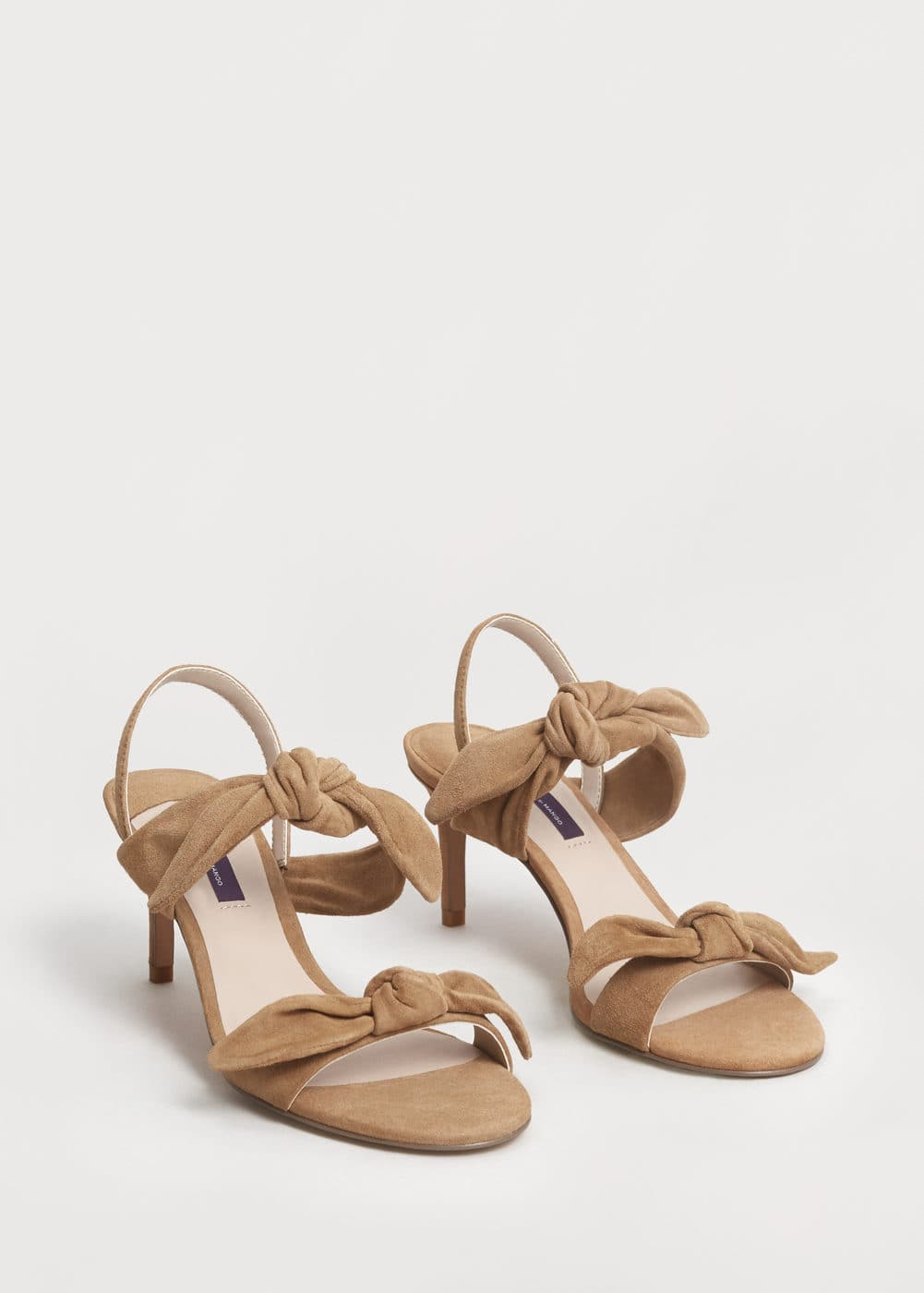 Bows leather sandals | VIOLETA BY MANGO