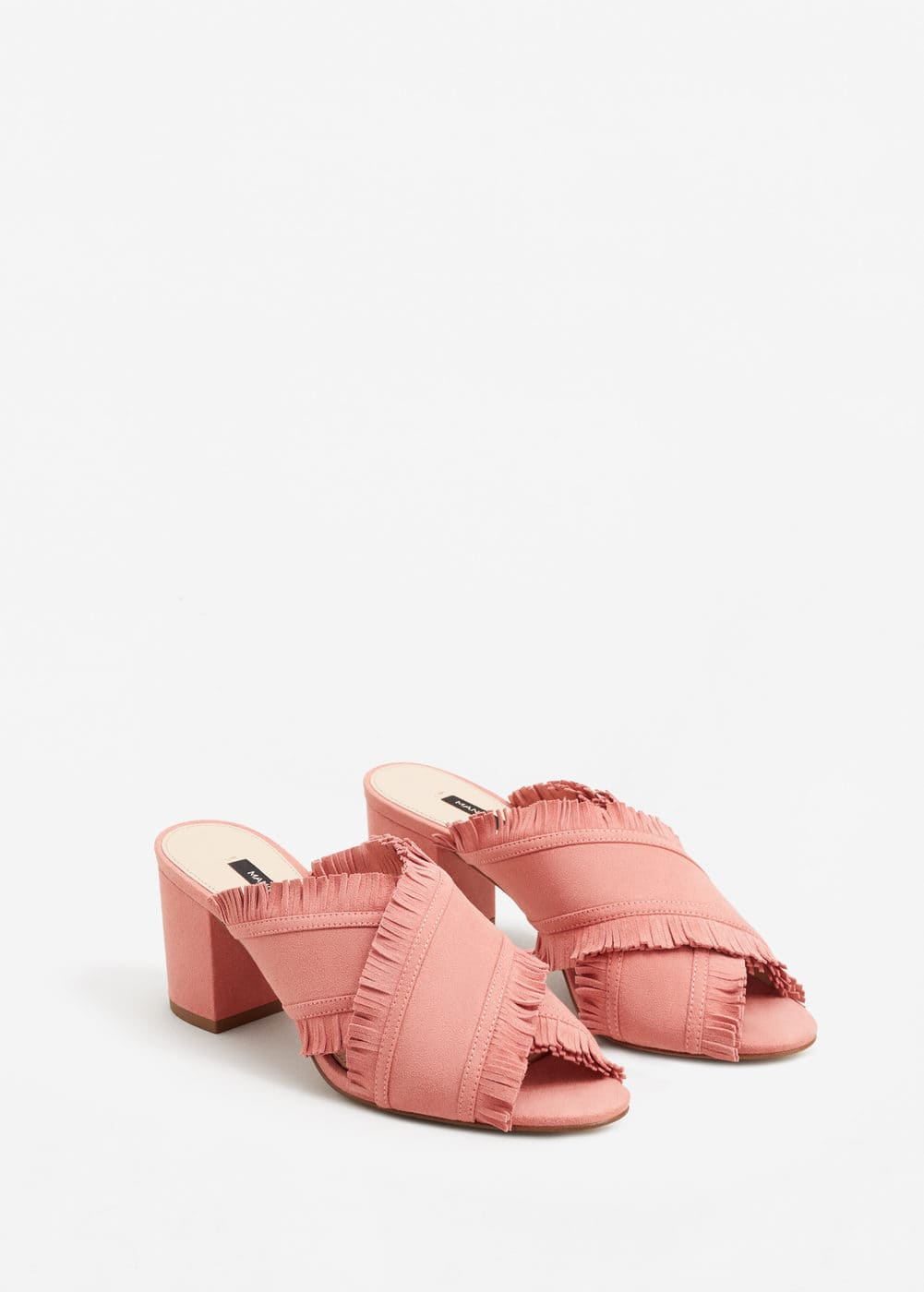 Leather wrap sandals | MANGO