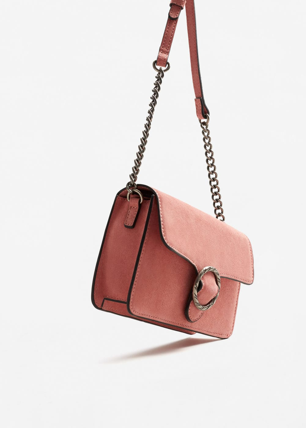Buckle leather bag | MANGO