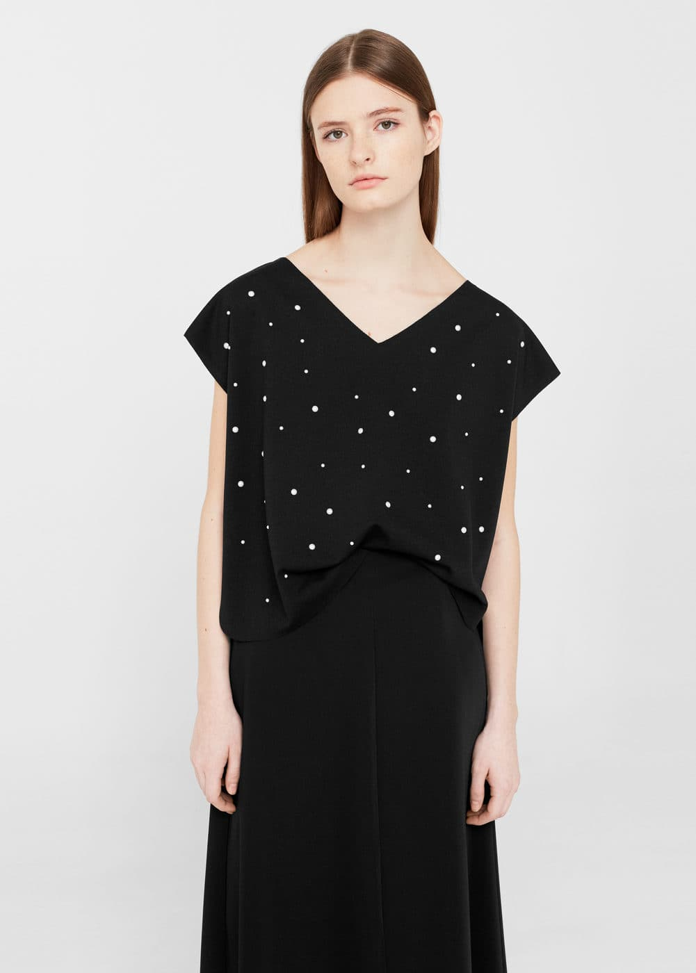 Pearls t-shirt | MANGO