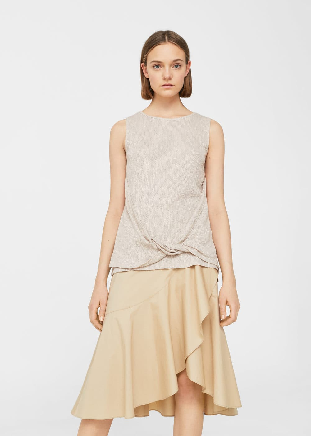 Knotted top | MANGO