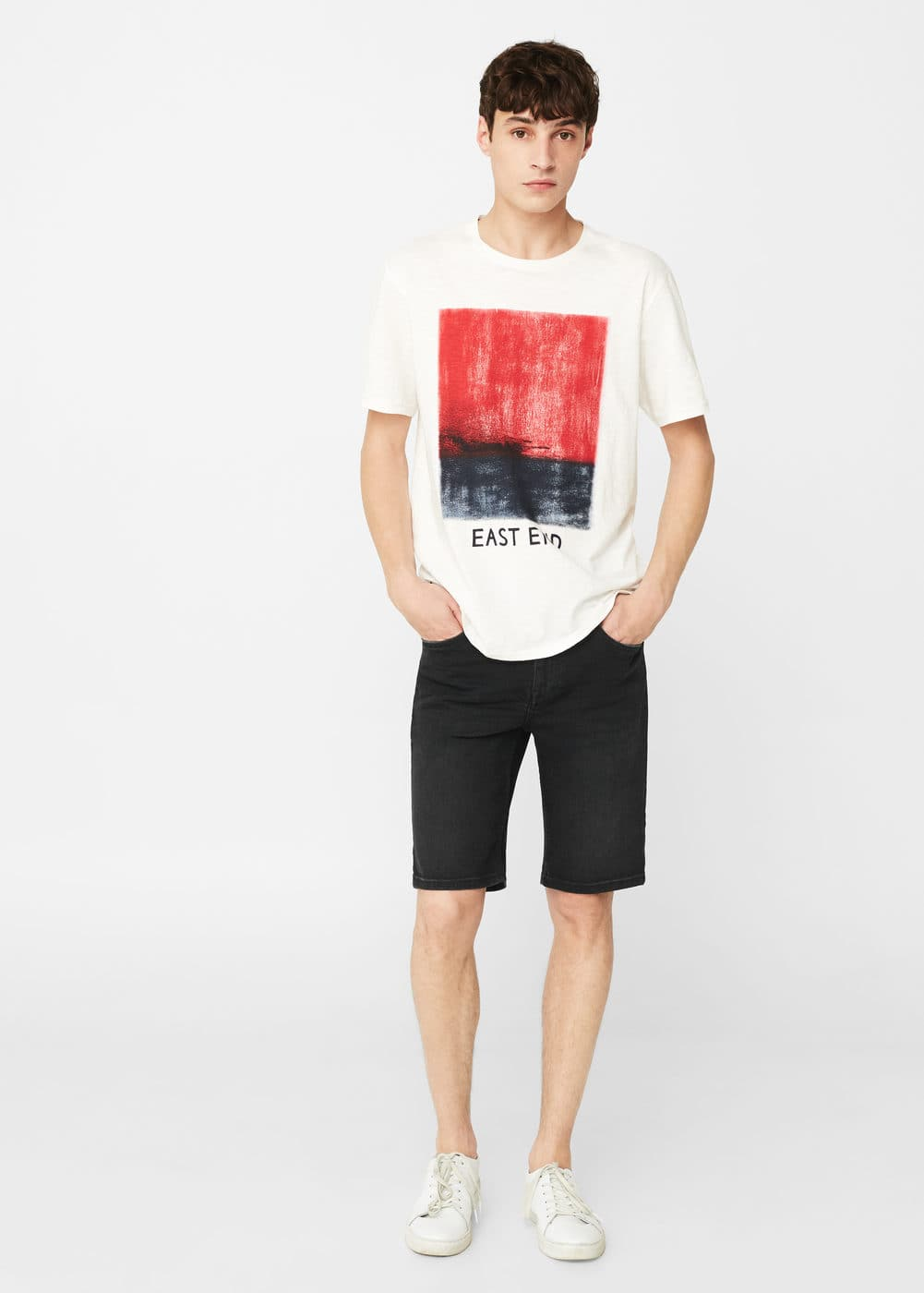 Dark denim bermuda shorts | MANGO MAN