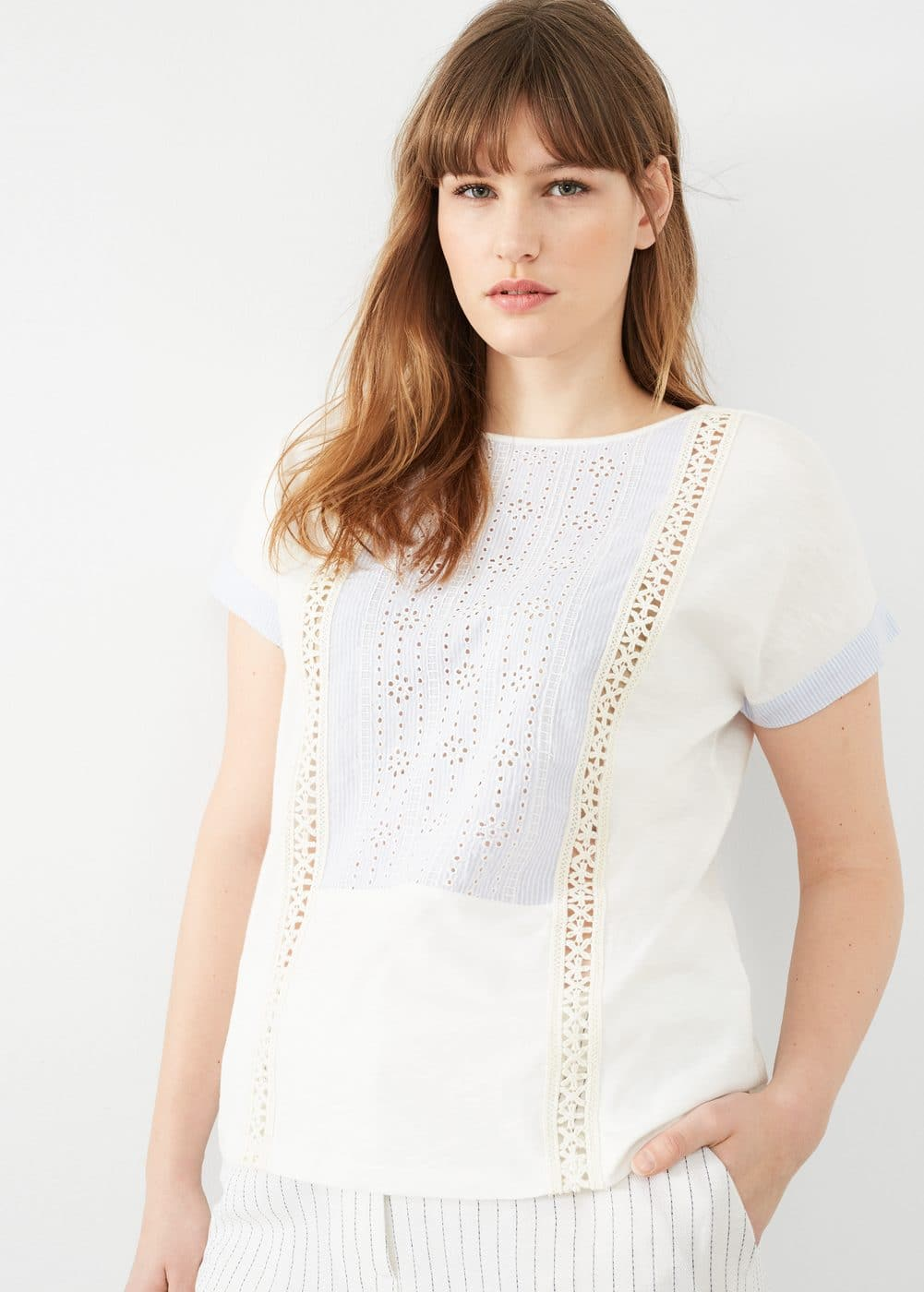 Openwork panel t-shirt | VIOLETA BY MANGO