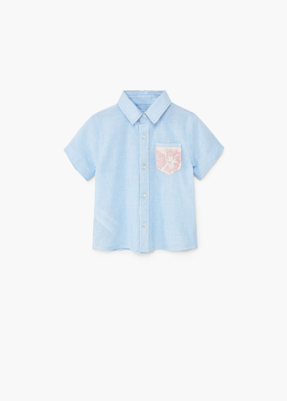 Contrasted pocketed shirt | MANGO KIDS