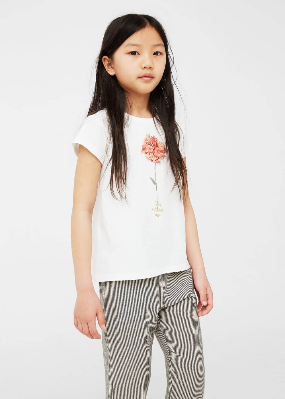 Embossed design t-shirt | MANGO