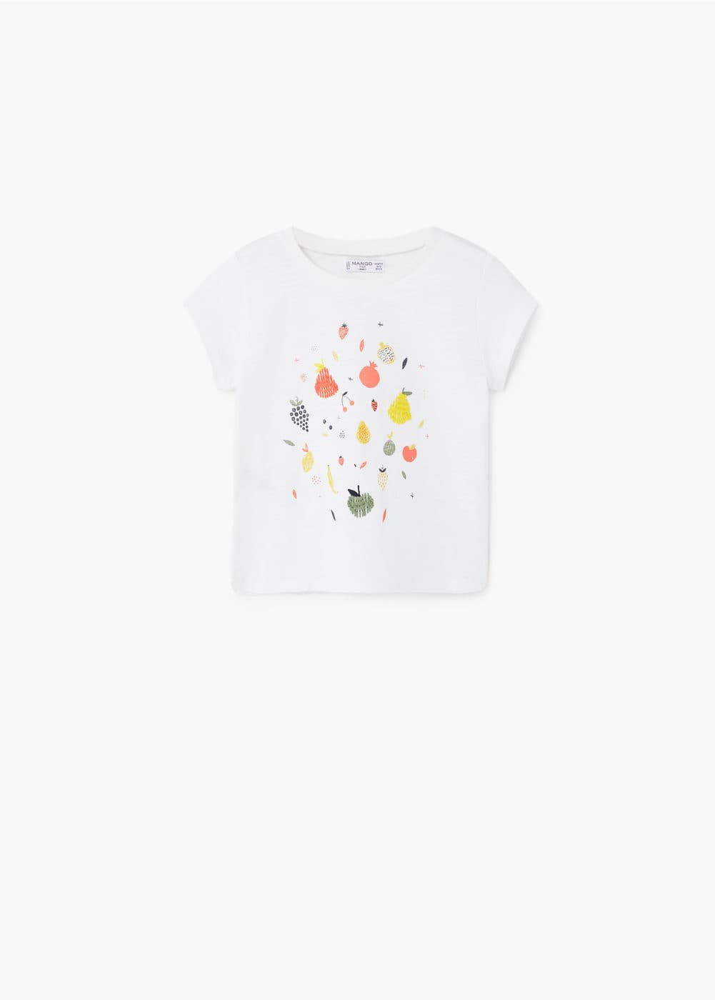 Embroidered detail t-shirt | MANGO KIDS