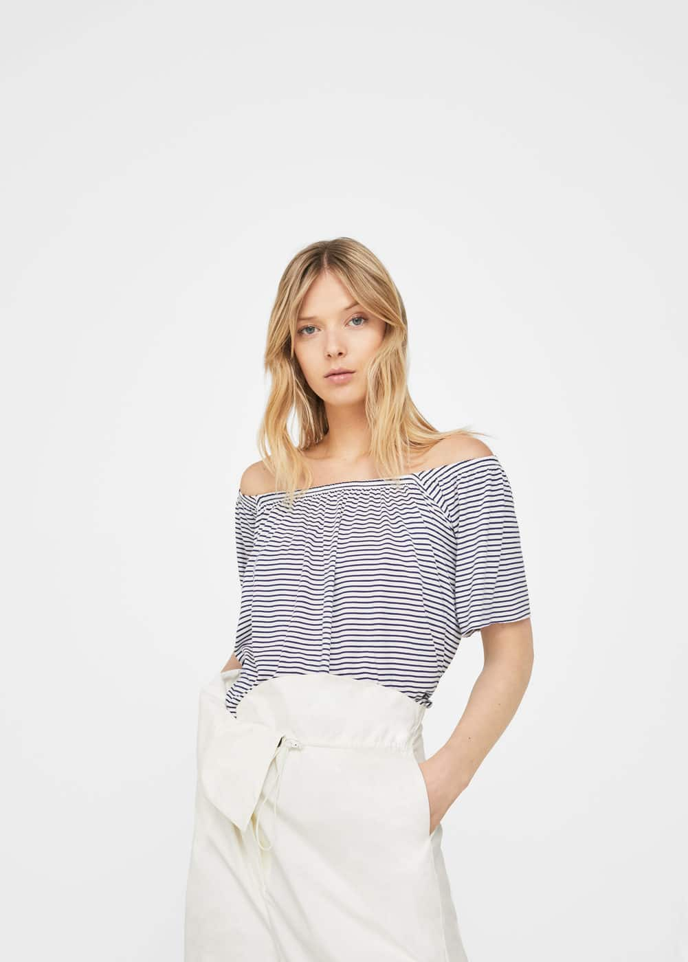 Samarreta off-shoulder | MANGO
