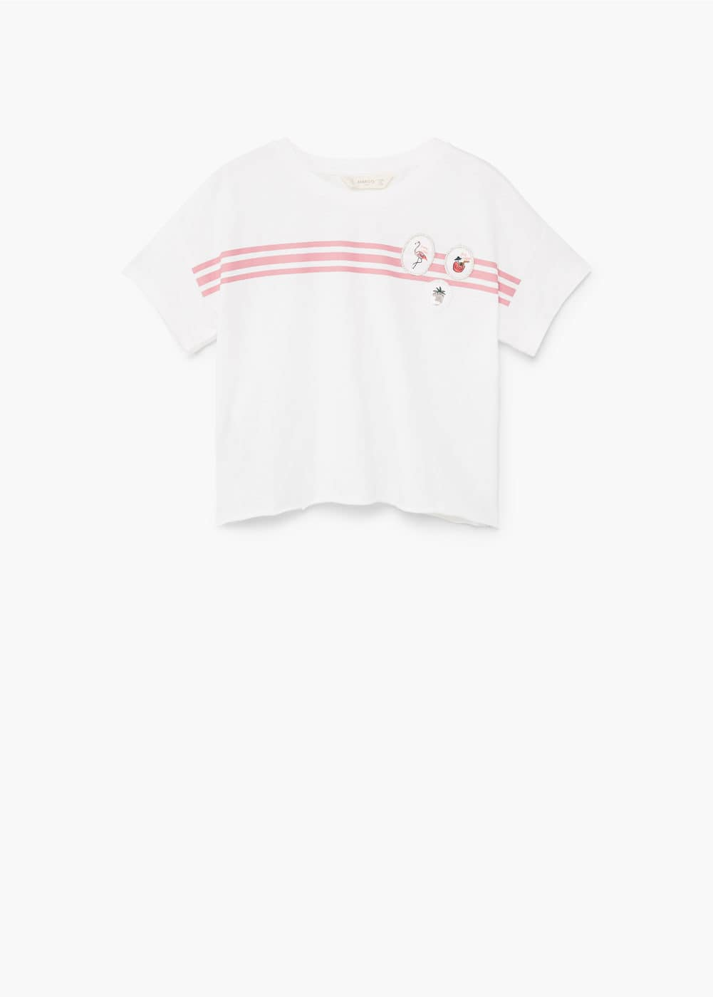 Decorative patches t-shirt | MANGO