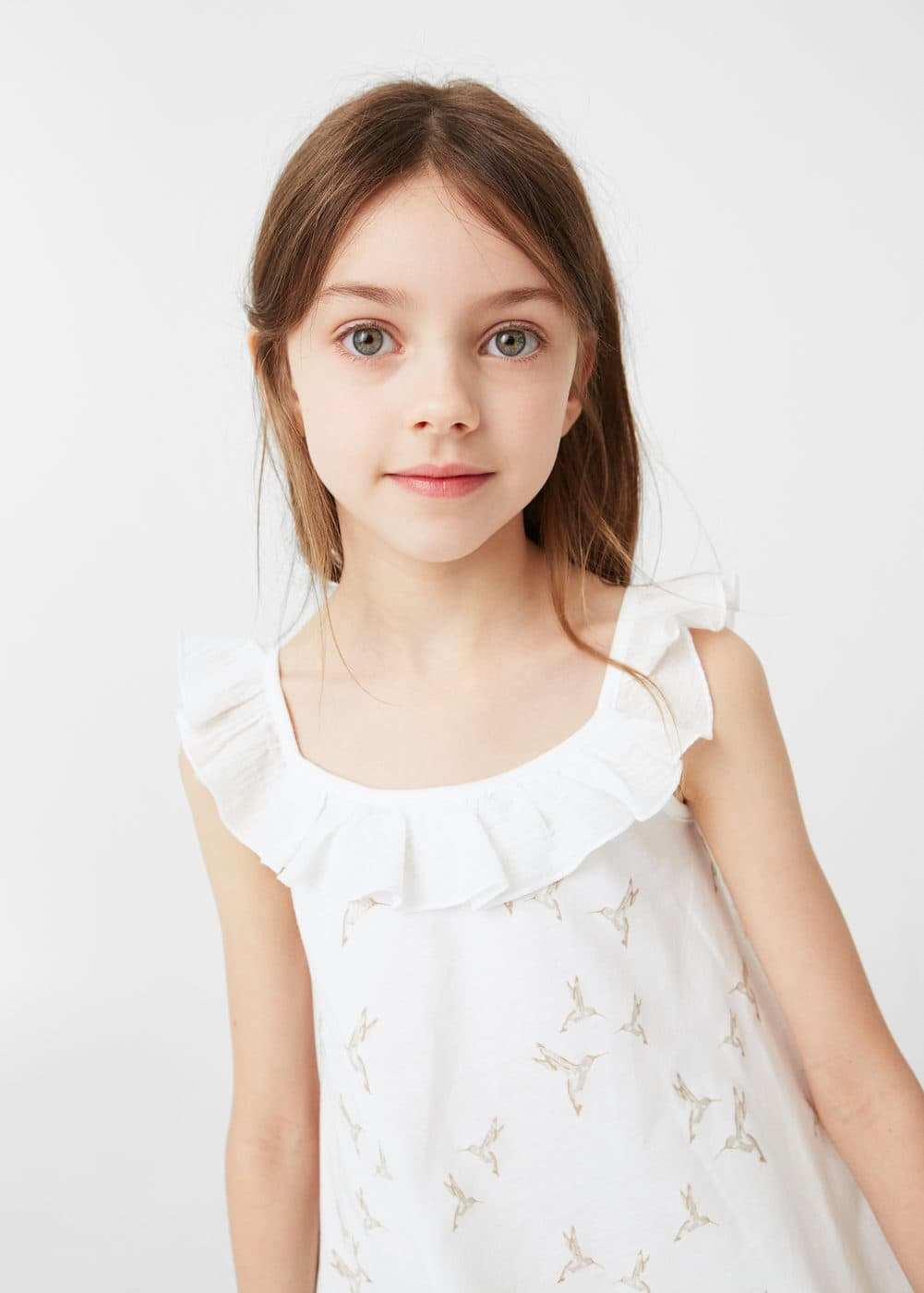 Top estampado volante | MANGO KIDS