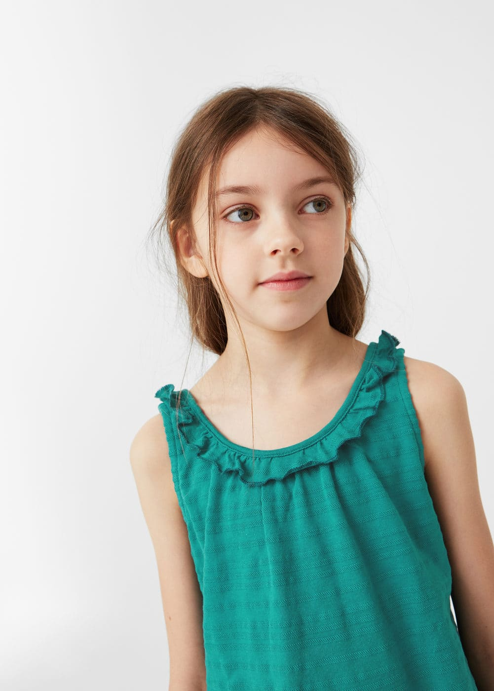 Ruffled detail t-shirt | MANGO KIDS