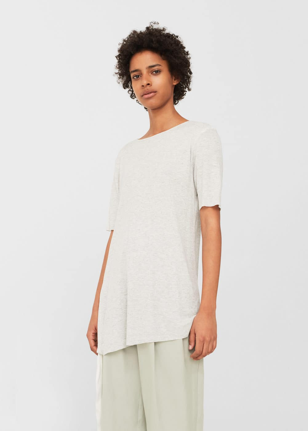 Adjustable cord t-shirt | MANGO