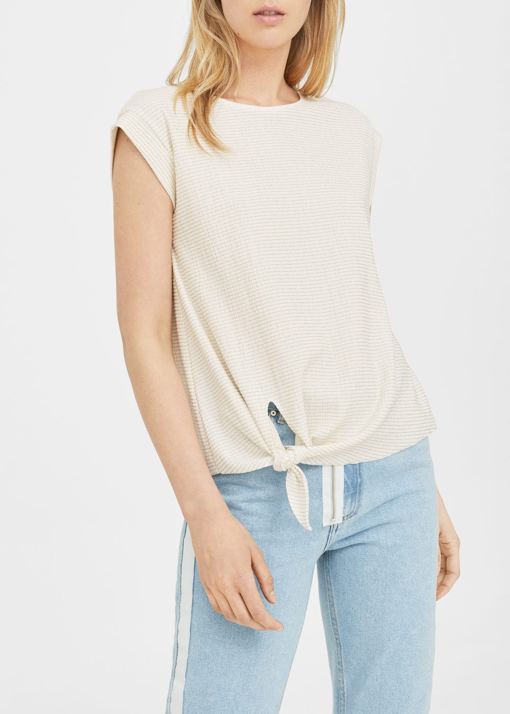 Textured knot t-shirt | MANGO