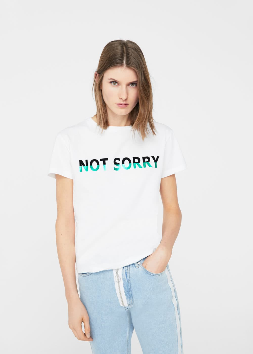 Message cotton t-shirt | MNG