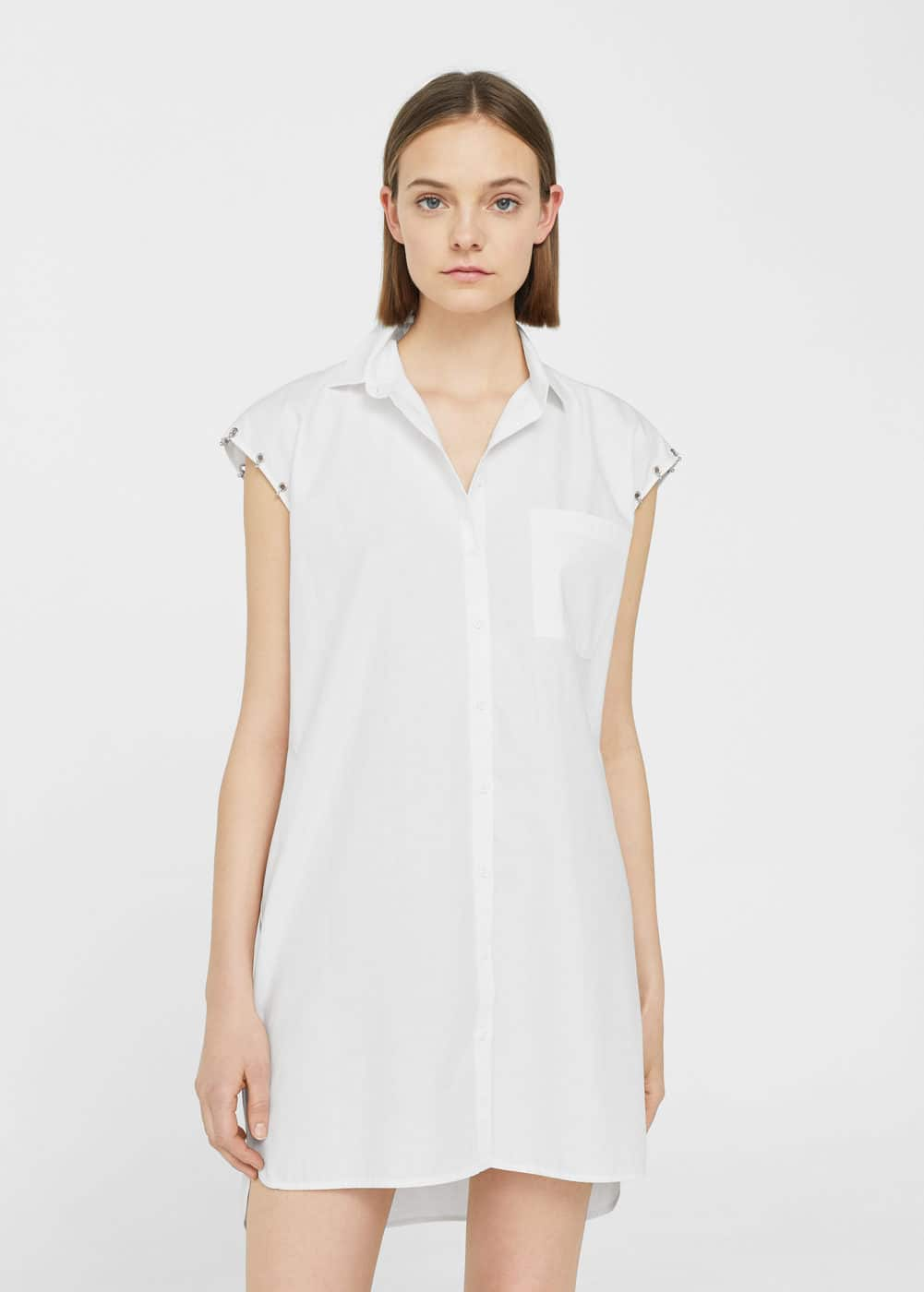 Piercings cotton dress | MANGO