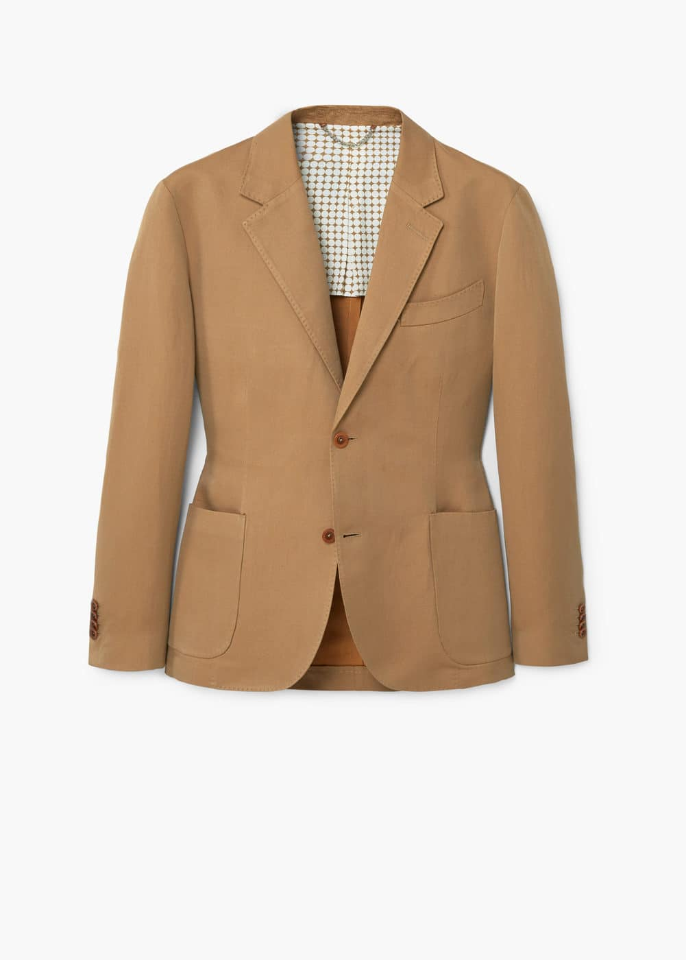 Unstructured regular-fit cotton blazer | MANGO