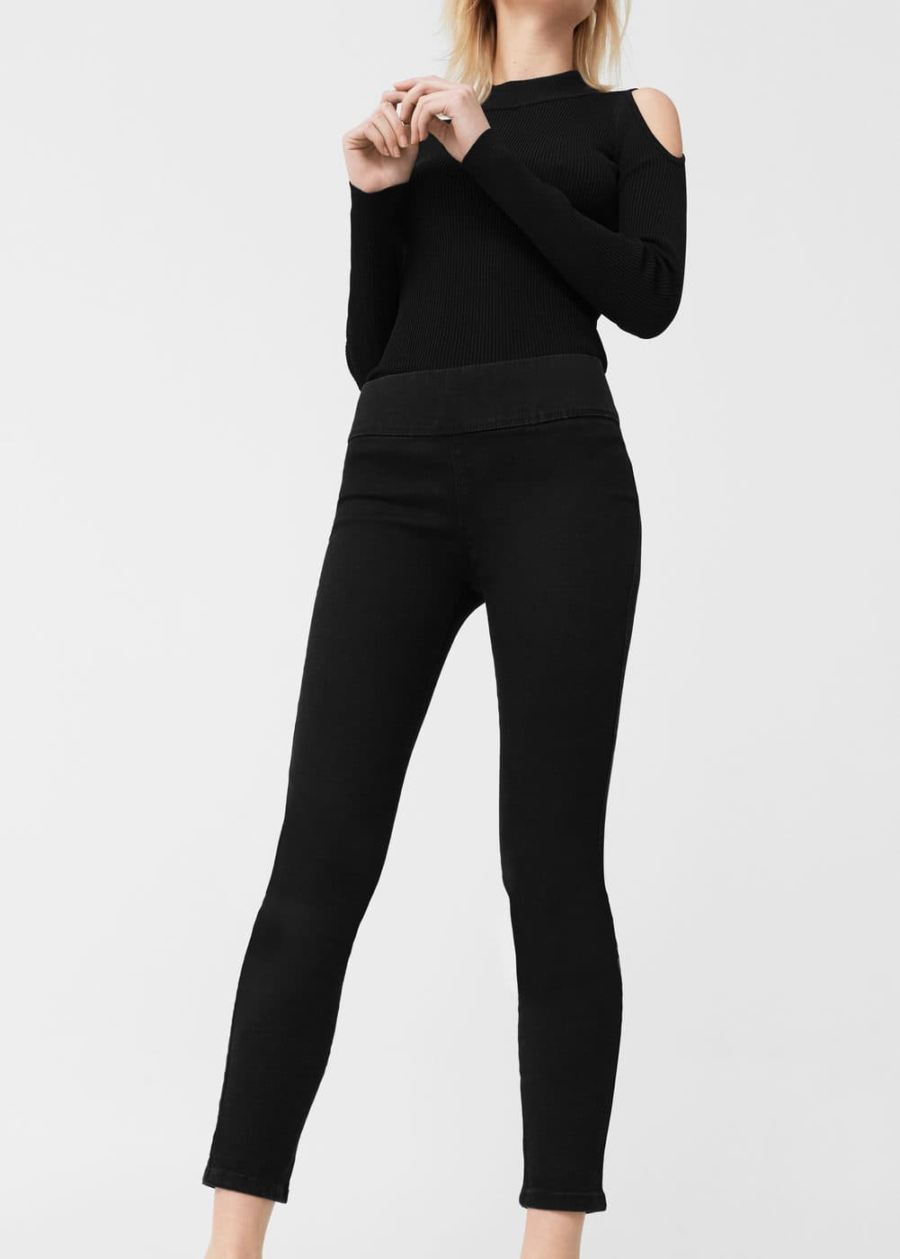 Black piti jeggings | MANGO