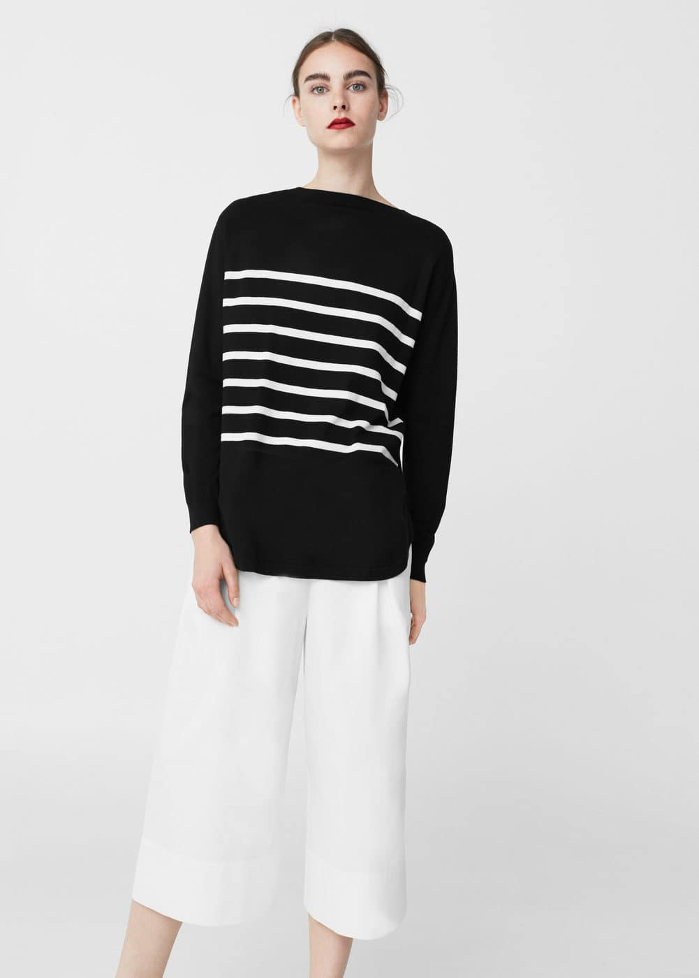 Stripe pattern sweater | MNG