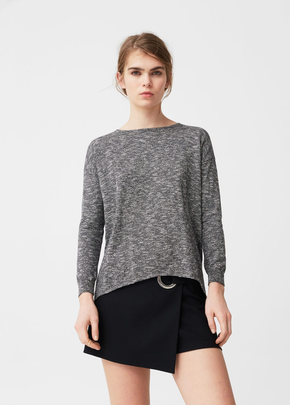 Interwoven drawstring sweater | MANGO