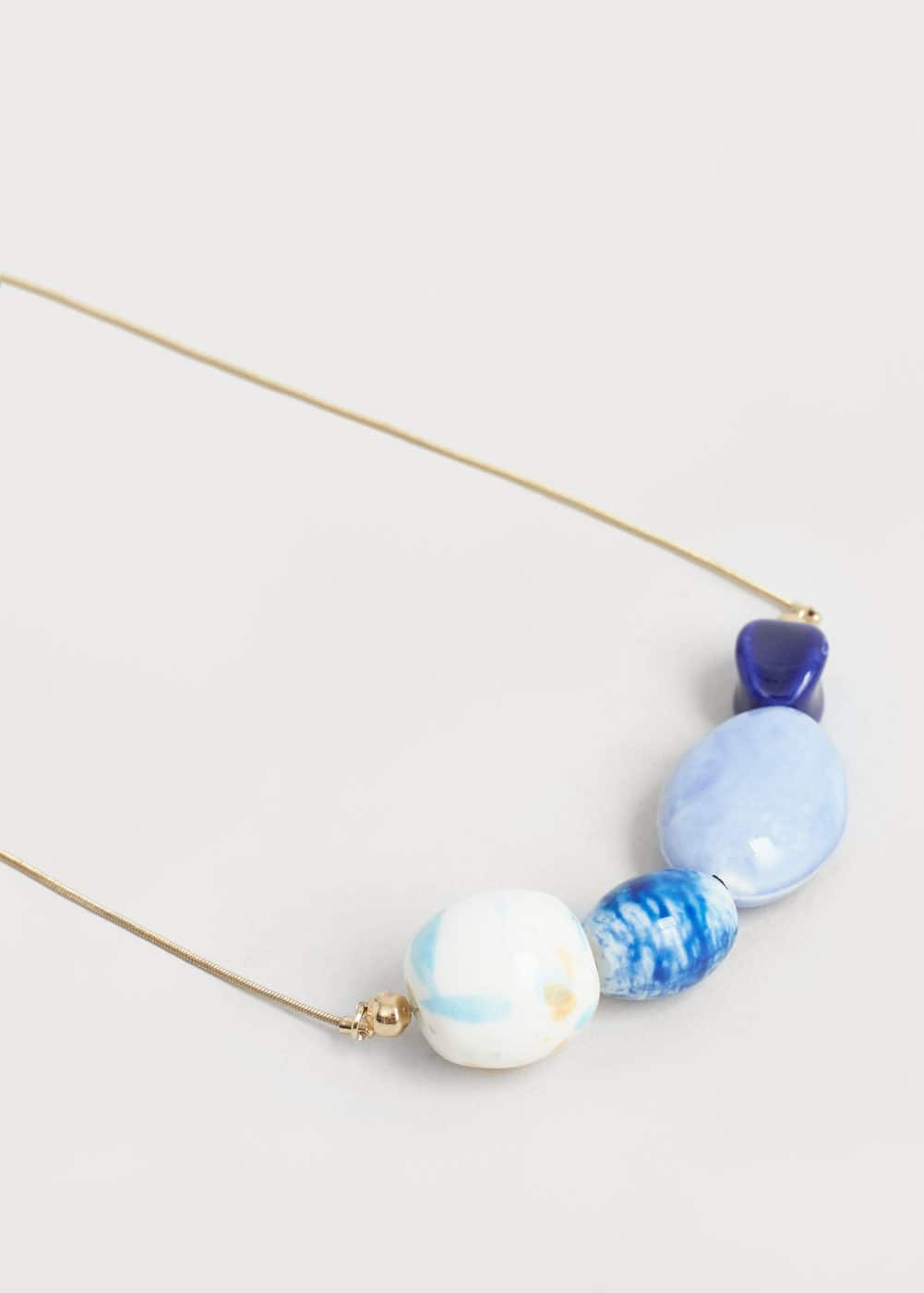 Mixed bead necklace | MANGO