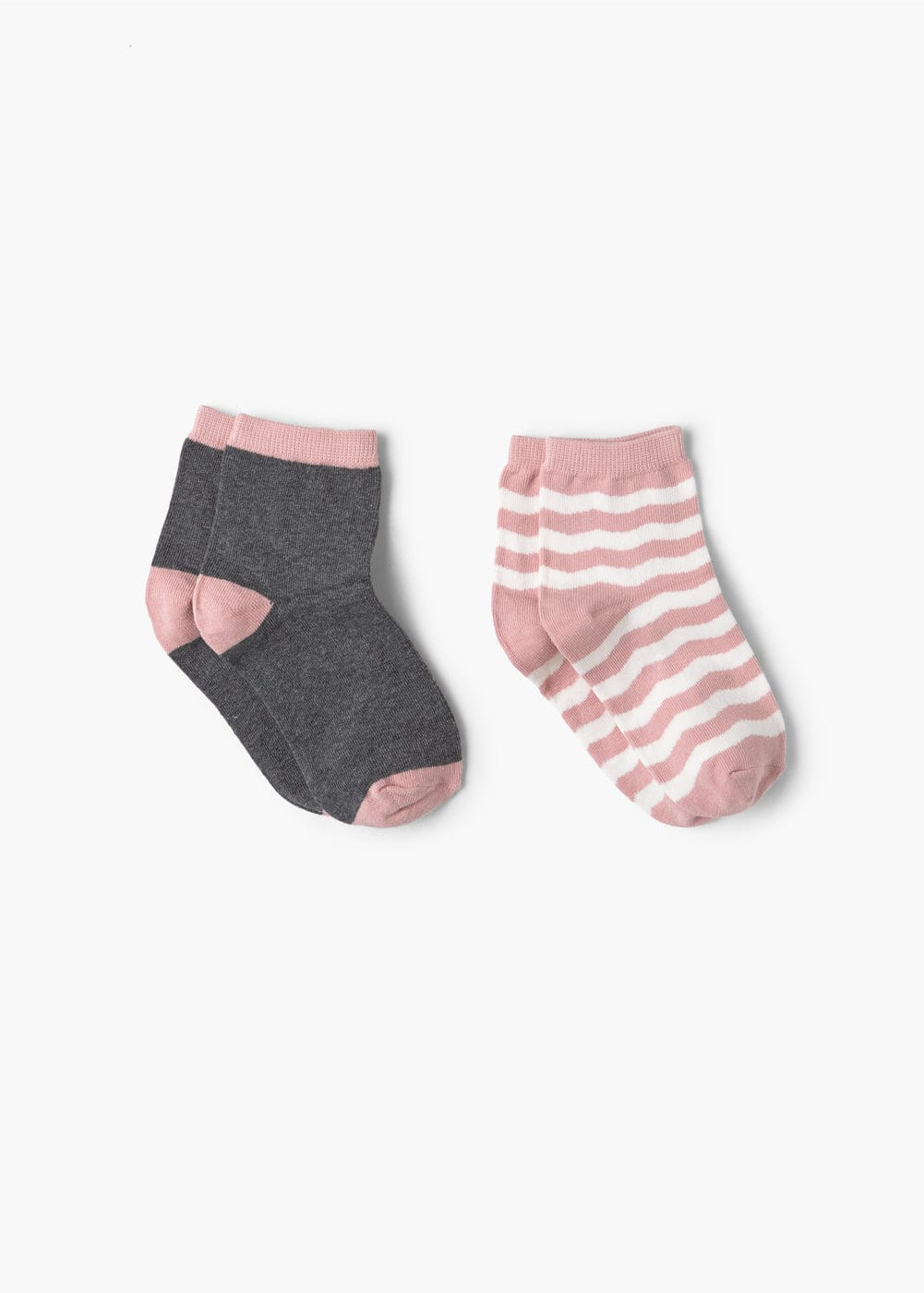 2 pack contrast socks | MANGO KIDS