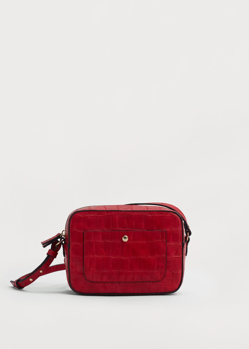 Croc-effect cross body bag | VIOLETA BY MANGO