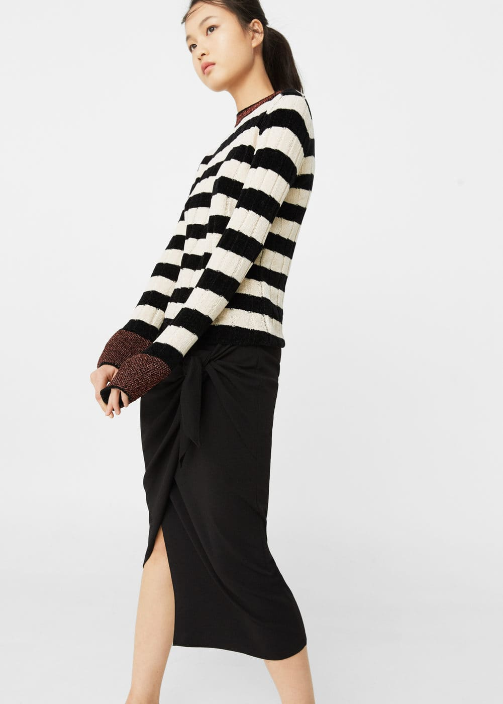 Striped rib sweater | MANGO