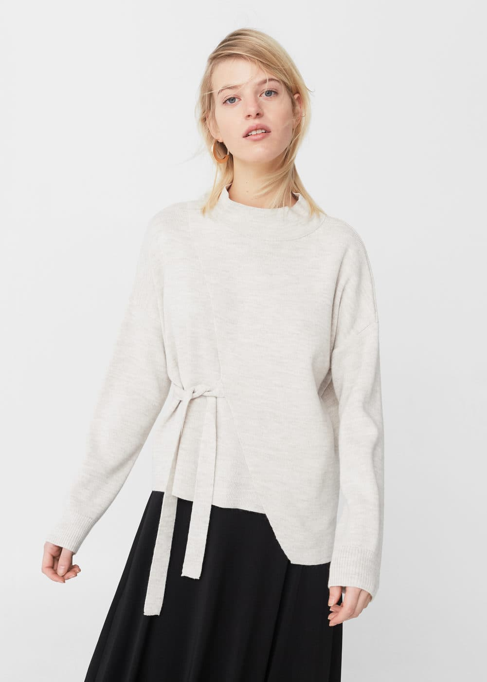Bow wrapped sweater | MANGO