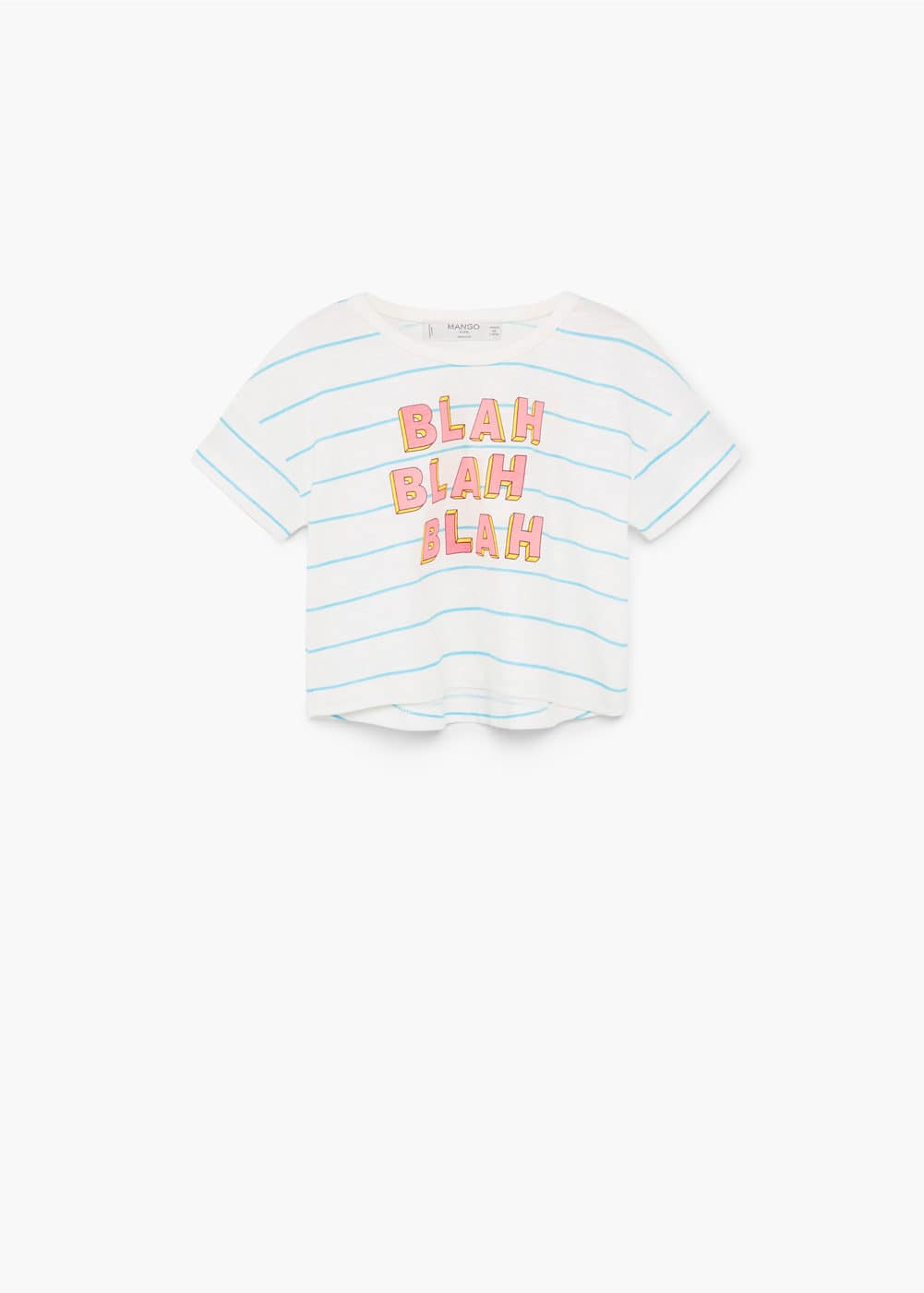 Message crop t-shirt | MANGO KIDS