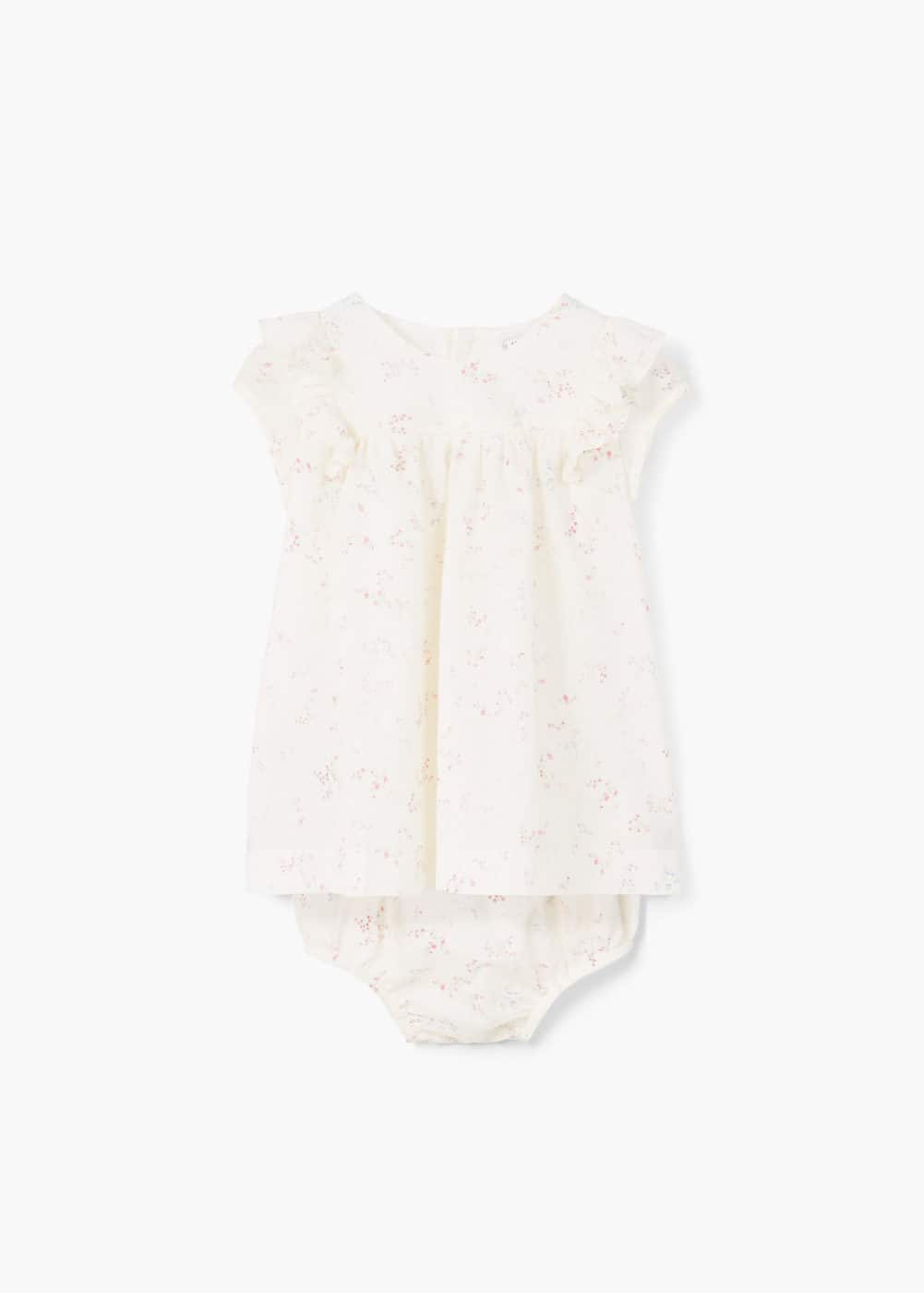 Printed dress with panties | MANGO KIDS
