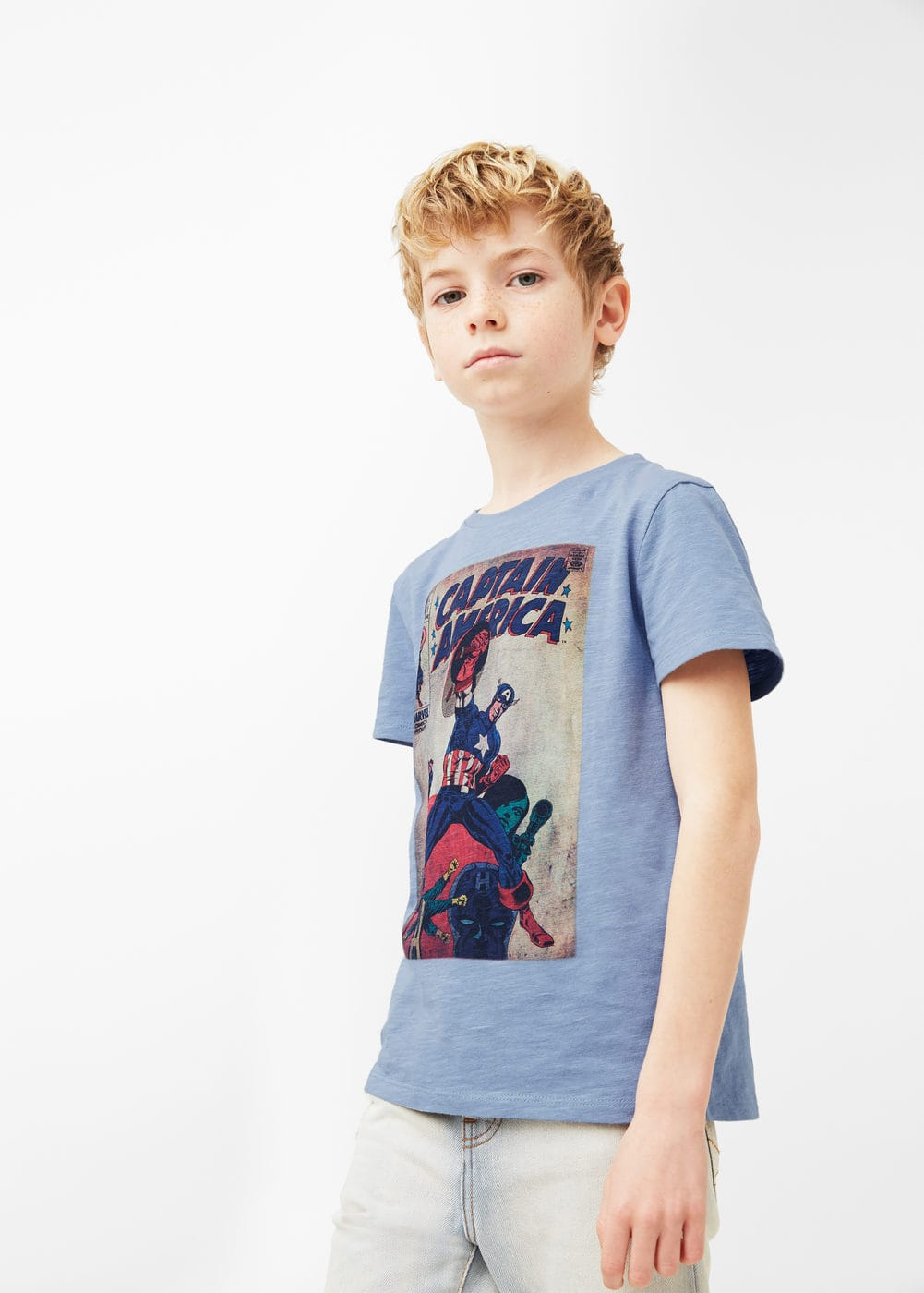 Superhero cotton t-shirt | MANGO