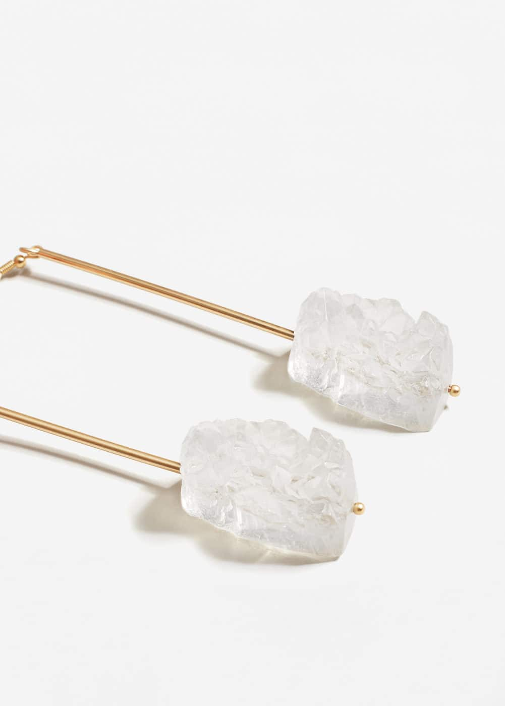 Quartz earrings | MANGO