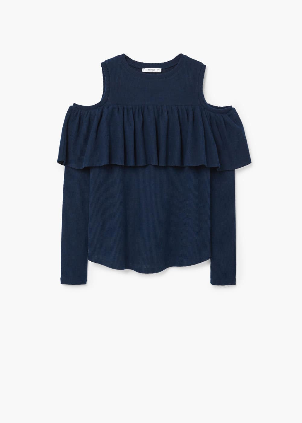 Off shoulders t-shirt | MANGO